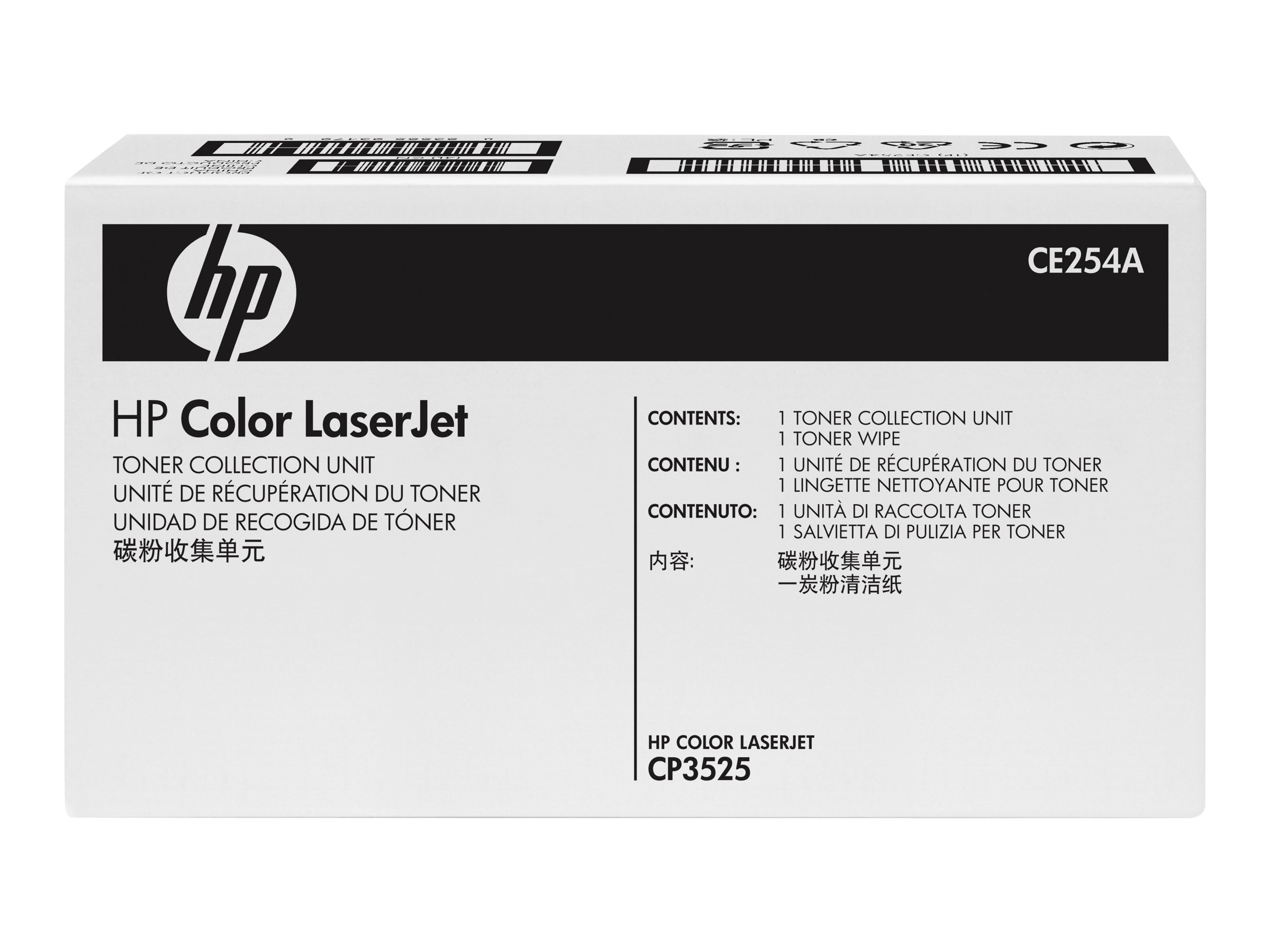 HP Color LaserJet Toner Collection Unit for HP Color LaserJet CP3525 & CM3530 Series, CE254A, 9347553, Toner and Imaging Components