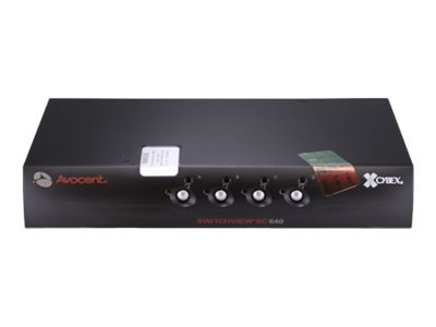 Avocent USB DVI-I SwitchView KVM Switch, 4-Port, SC640-001, 13126833, KVM Switches