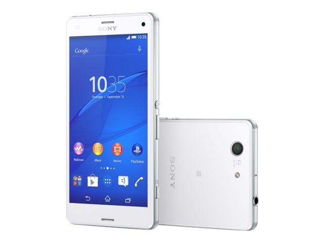Sony XPeria Z3 Compact LTE D5803 4.6 2.5GHZ 4CR 16GB 20.7MP NFC Phone - White, 1290-0539