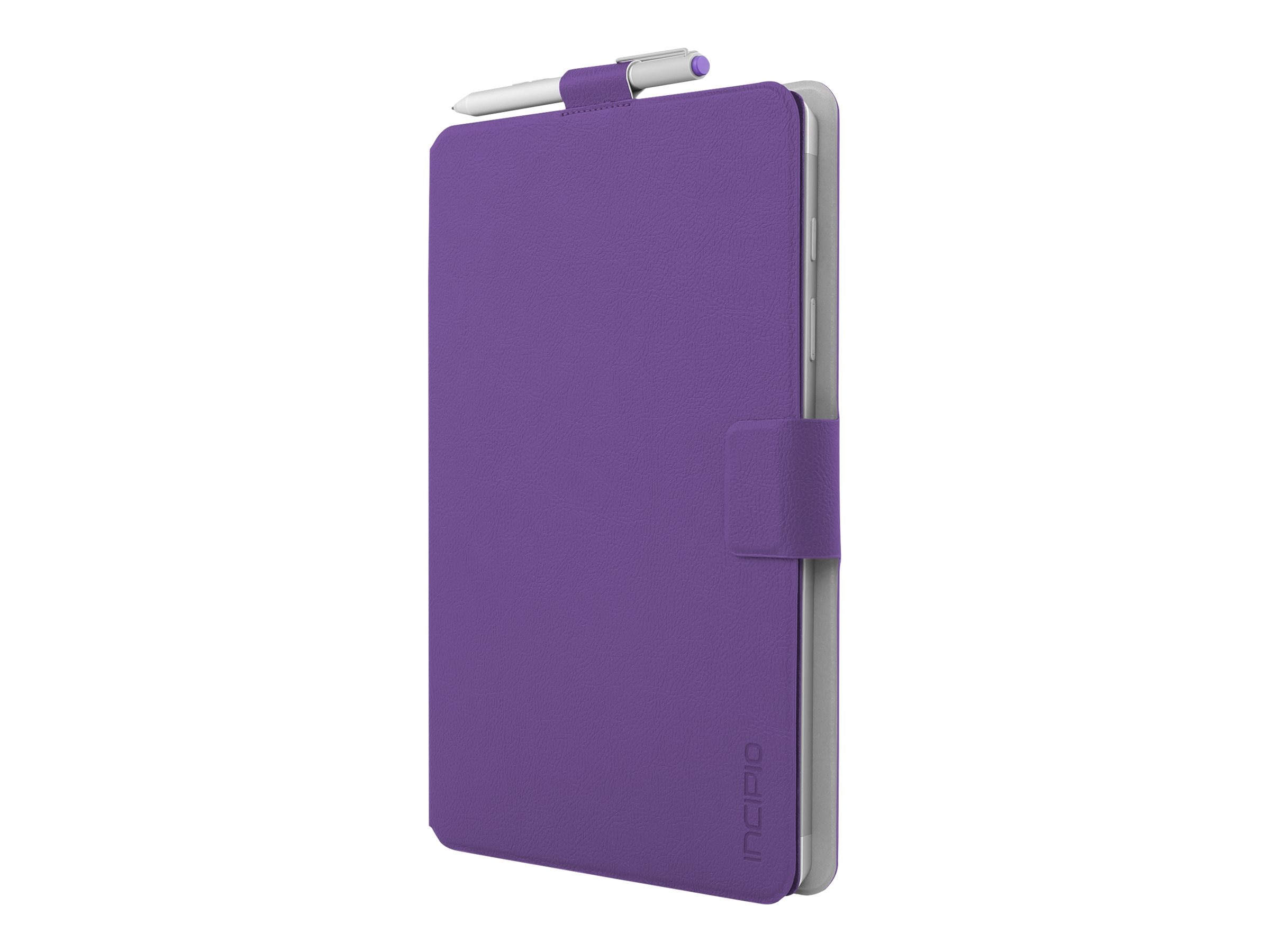 Incipio Roosevelt Slim Folio w  Snap-On Type Cover Compatibility for Microsoft Surface 3, Purple