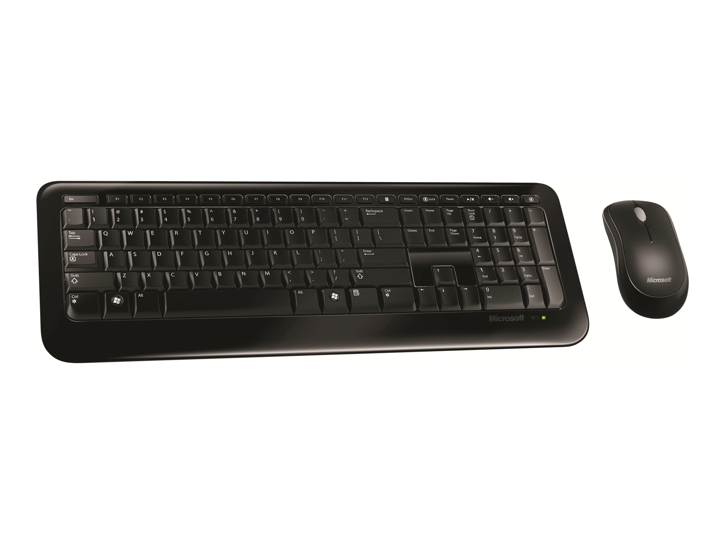 Microsoft Wireless USB Keyboard Mouse Combo, Black, 2LF-00001