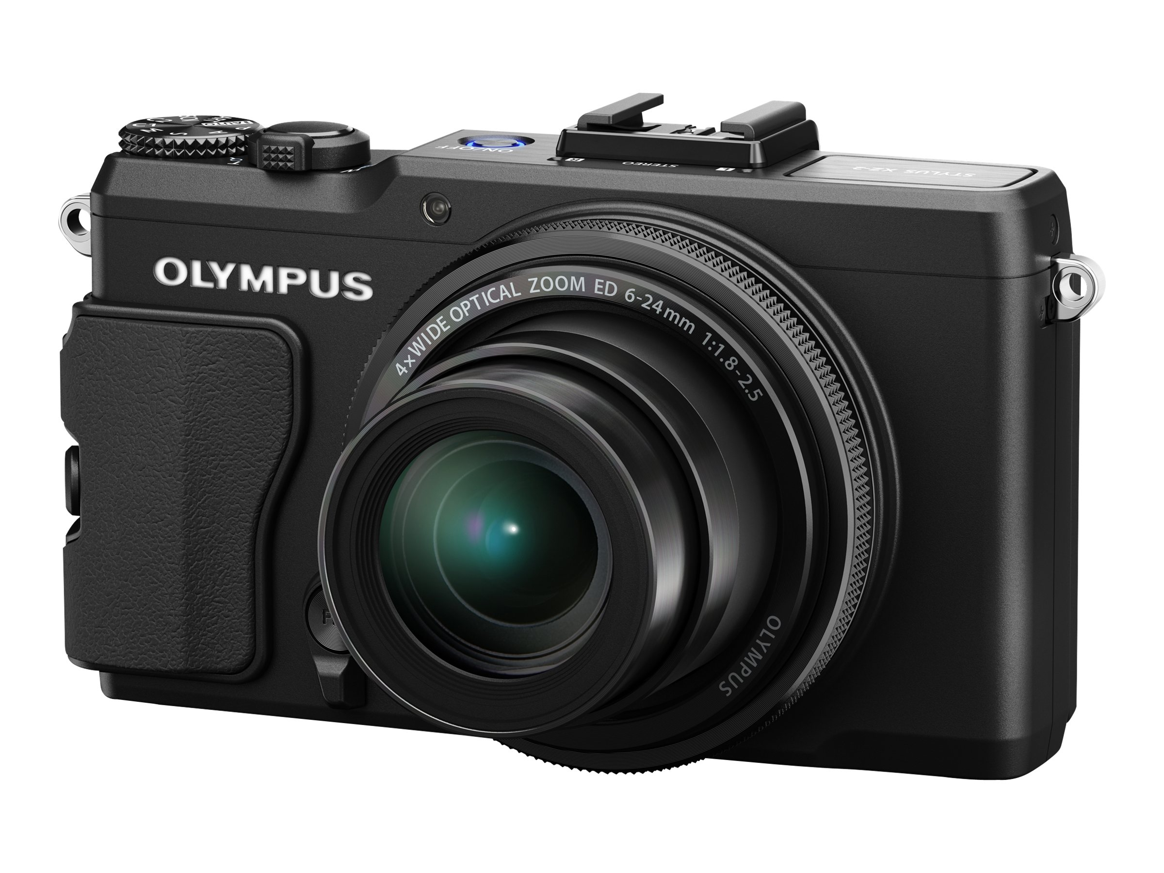 Olympus STYLUS XZ-2 iHS Digital Camera, 12MP, 4x Zoom, Black, V101020BU000, 14836263, Cameras - Digital - Point & Shoot