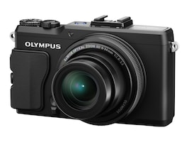 Olympus STYLUS XZ-2 iHS Digital Camera, 12MP, 4x Zoom, Black, V101020BU000, 14836263, Cameras - Digital