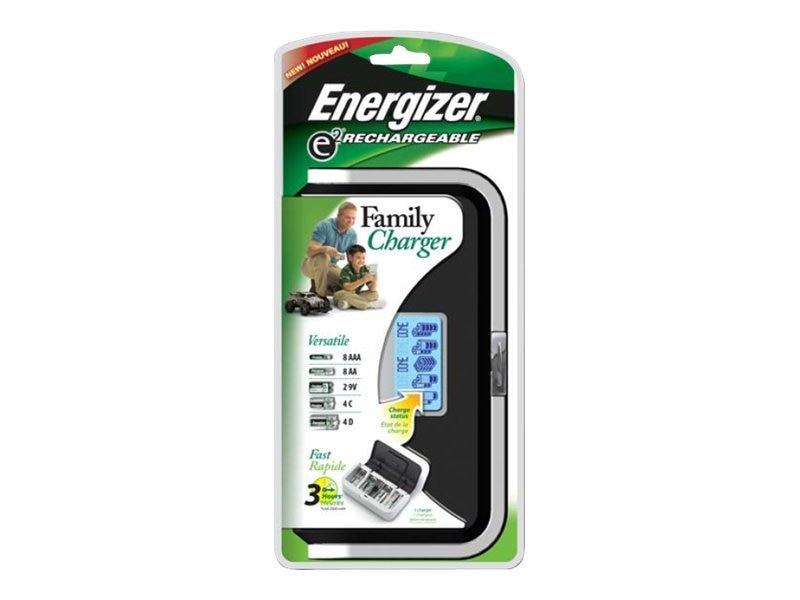 Energizer NiMH Family Battery Charger with LCD Display, CHFC