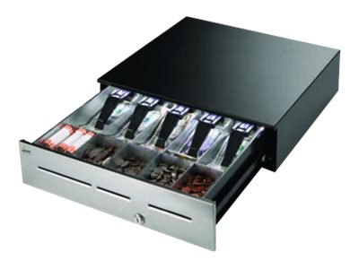 MMF POS 18wx16.7dx4.6h Cash Drawer, Warm White Light, 5-Bill 5-Coin