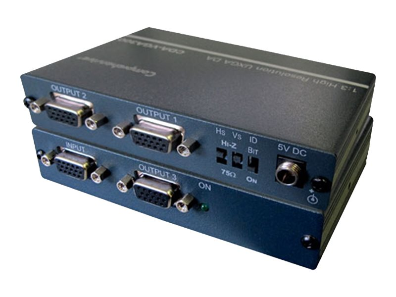 Comprehensive 1x3 VGA XGA Distribution Amplifier, CDA-VGA300, 31191022, Video Extenders & Splitters