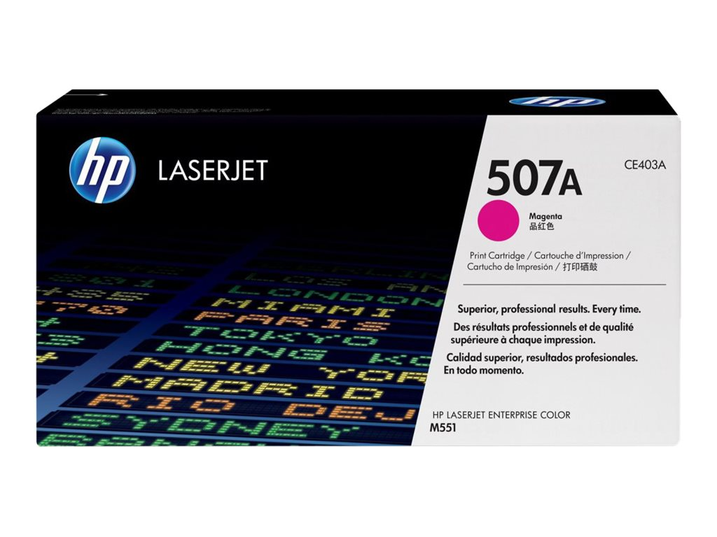 HP 507A (CE403A) Magenta Original LaserJet Toner Cartridge, CE403A, 13266570, Toner and Imaging Components