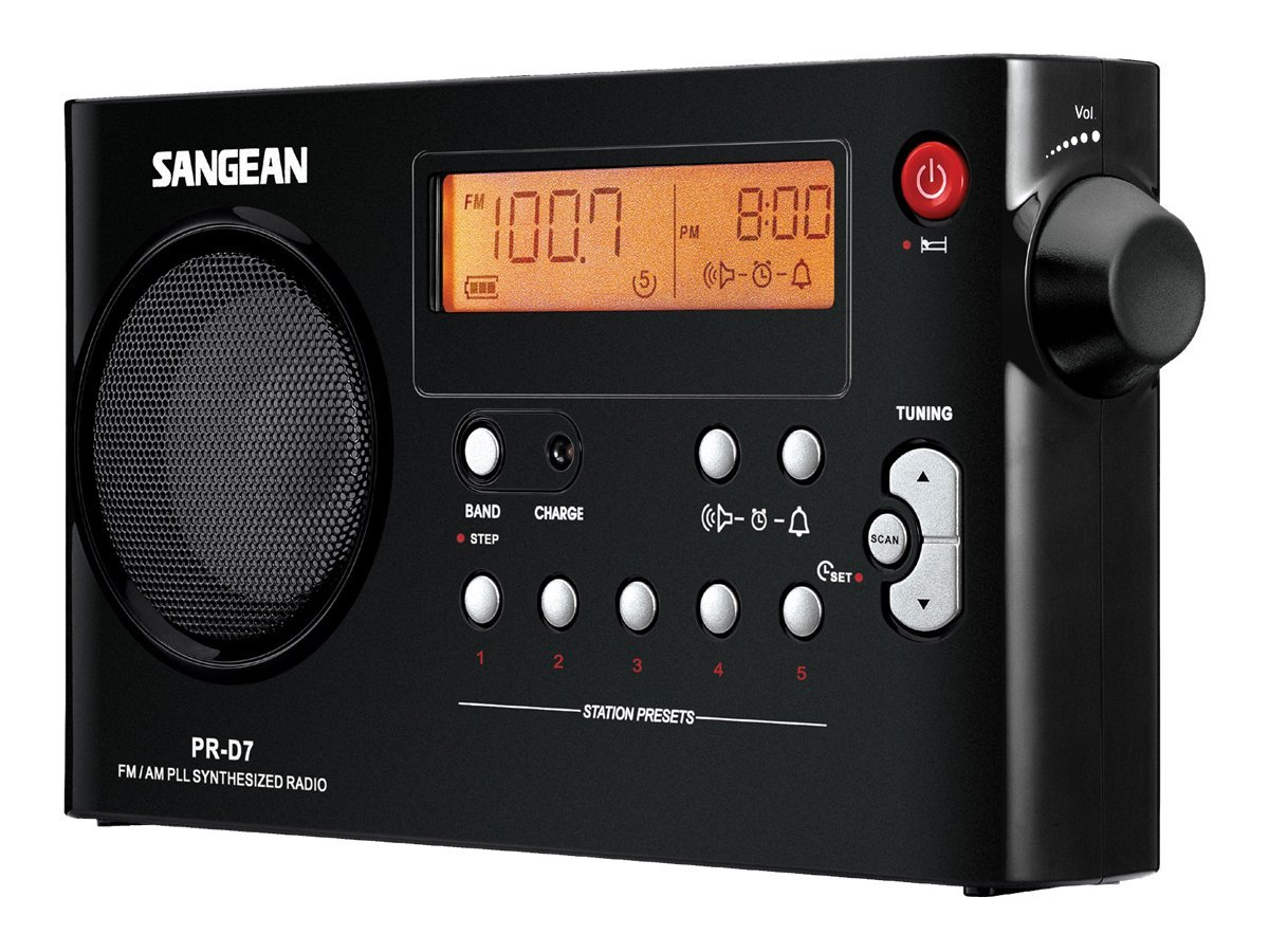 Sangean AM FM Rechargeable Receiver