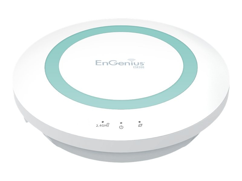 Engenius Technologies 2.4 GHz Wireless N300 Xtra Range Router with USB and EnShare, ESR300