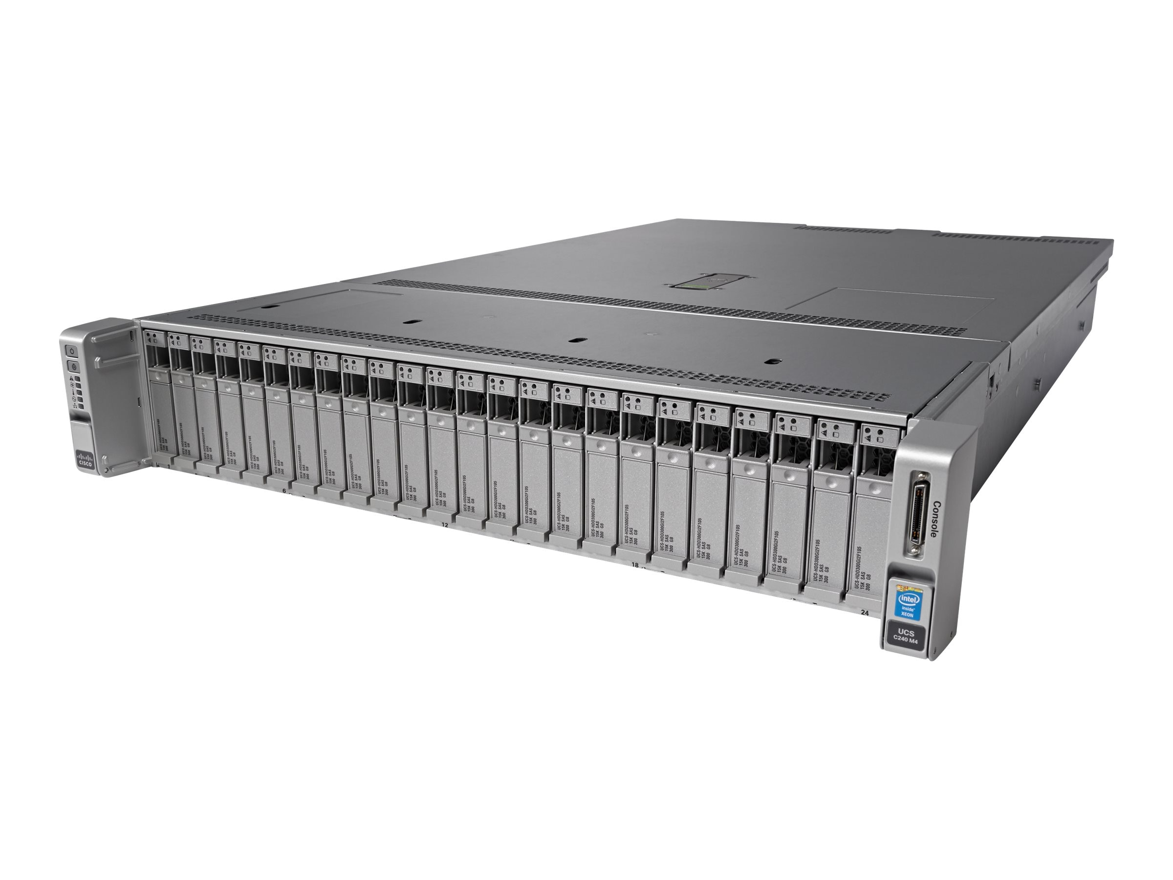 Cisco UCS C240 M4S (2x)Xeon E5-2620 v4 32GB MRAID 32GB SD 2x1200W Rails