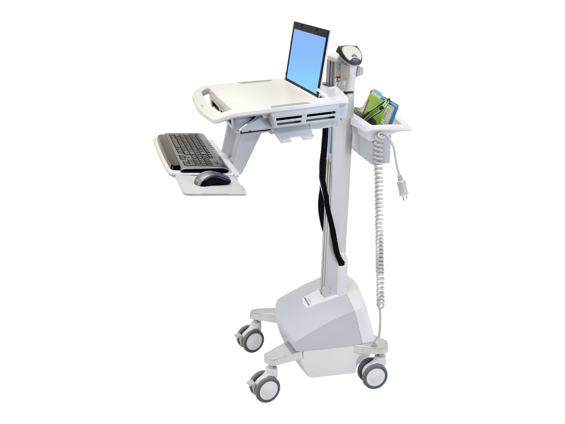 Ergotron StyleView Laptop Cart, LiFe Powered, SV42-6102-2