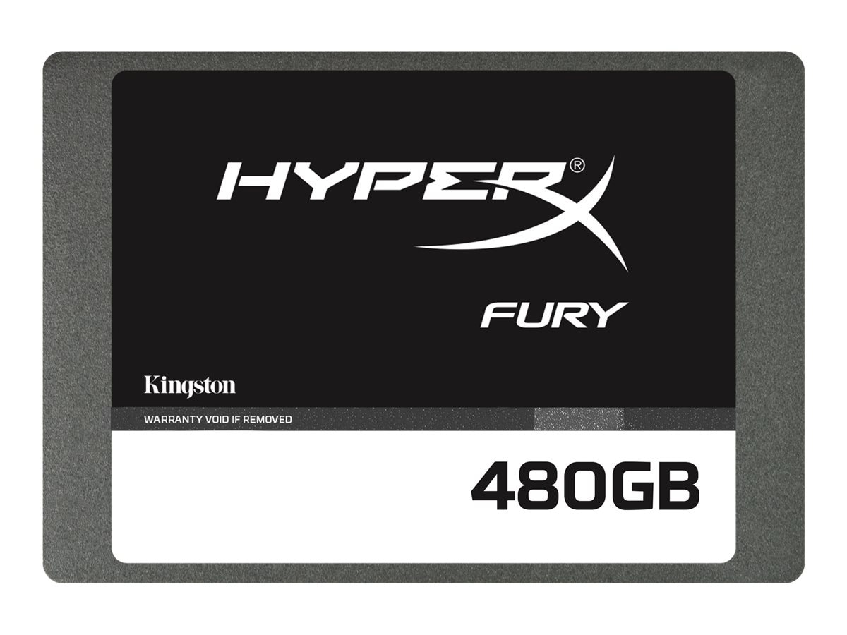 Kingston 480GB HyperX FURY SATA 6Gb s 2.5 7mm Internal Solid State Drive w  Adapter
