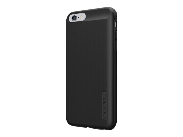 Incipio DualPro Shine Dual Layer Protection w  Brushed Aluminum Finish for iPhone 6 6S Plus, Black Black