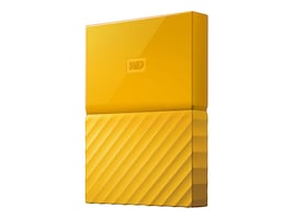 WD 3TB My Passport USB 3.0 Portable Hard Drive - Yellow, WDBYFT0030BYL-WESN, 32484847, Hard Drives - External