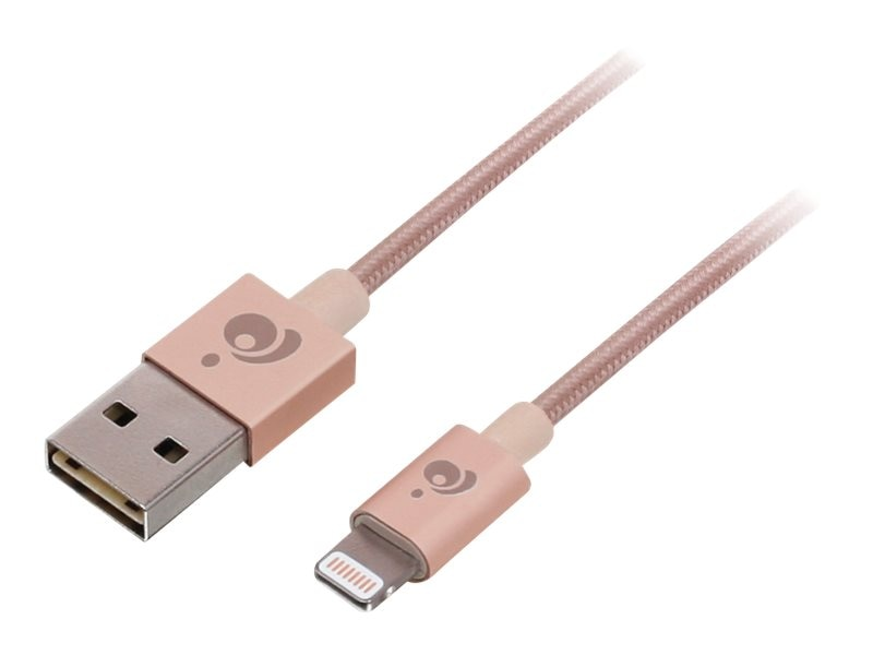 IOGEAR Charge and Sync Flip Pro USB to Lightning M M Cable, Rose Gold, 1m, GAUL01-RG