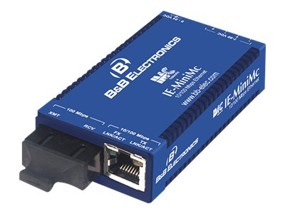 IMC IE-MiniMC TP-TX FX-MM1300-SC Power 2KM with AC Power 10 100BaseTX 100BaseFX, 855-19723, 8558308, Adapters & Port Converters
