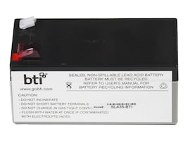 BTI Replacement Battery for use with APC BE350C, BE350G, BE350R, BE350T, RBC35-SLA35-BTI, 9516417, Batteries - Other