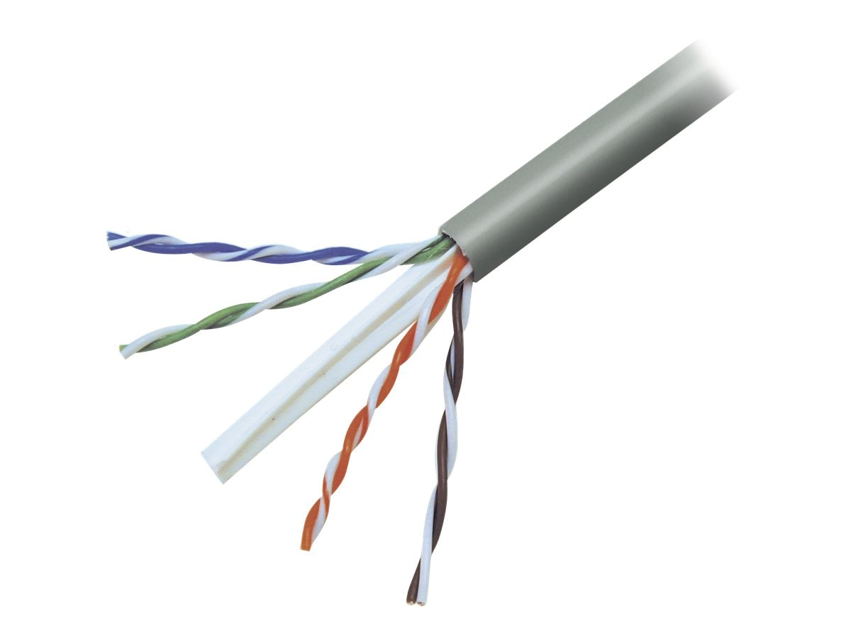 Belkin Cat6 Bulk Solid Cable, Plenum, TAA, Green, 1000ft, TAA704-1000GR-P, 15054407, Cables