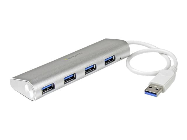 StarTech.com 4-Port Portable USB 3.0 Hub w Built-in Cable