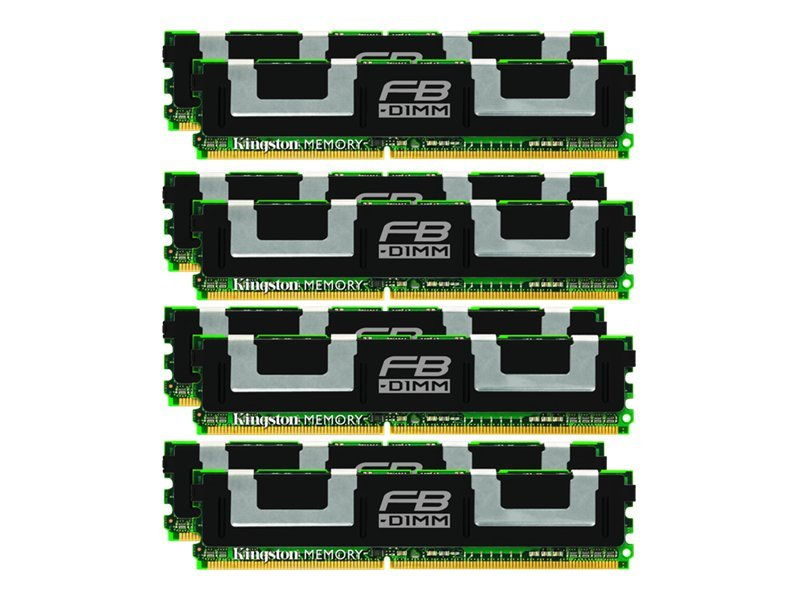Kingston 64GB PC2-5300 240-pin DDR2 SDRAM DIMM Kit for Select ProLiant, Workstation Models, KTH-XW667/64G, 9547627, Memory