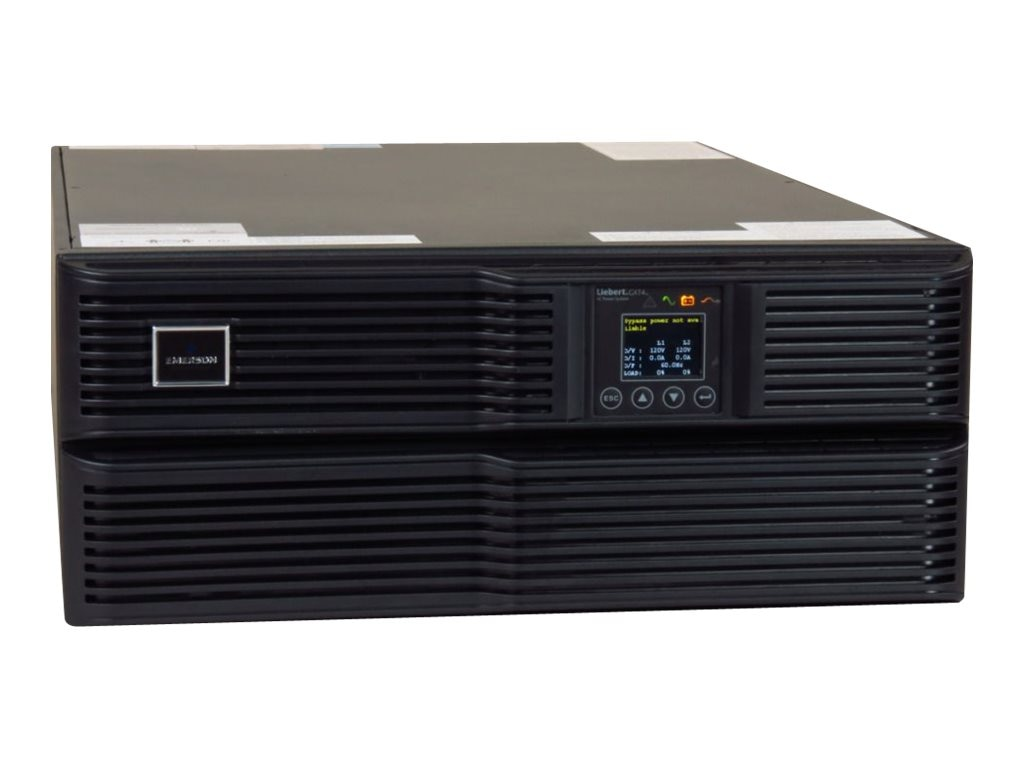 Liebert GXT4 5000VA R T Online UPS 208 120V w  Rackmount Kit, Webcard, GXT4-5000RT208, 18382051, Battery Backup/UPS