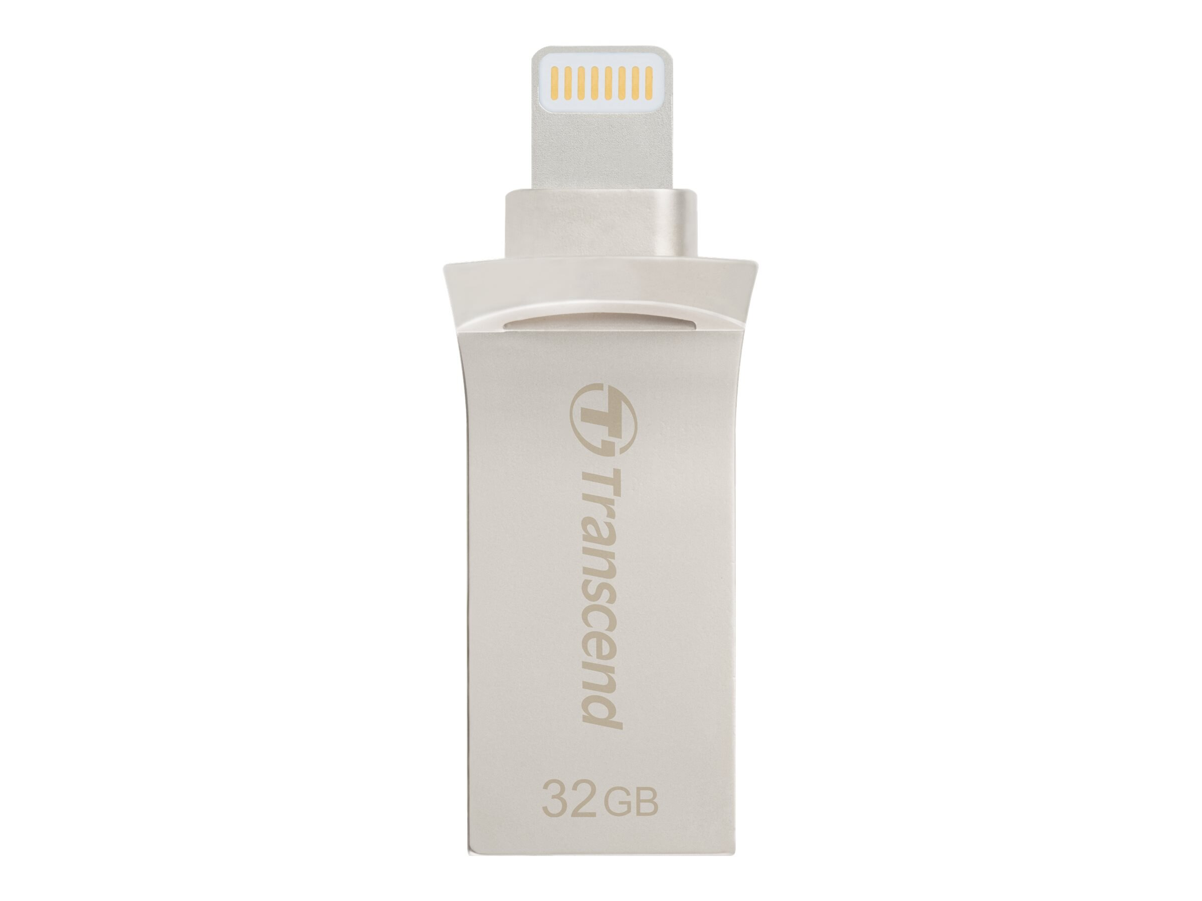 Transcend 64GB JetDrive Go 500 Lightning USB 3.1 Flash Drive, Silver, TS64GJDG500S