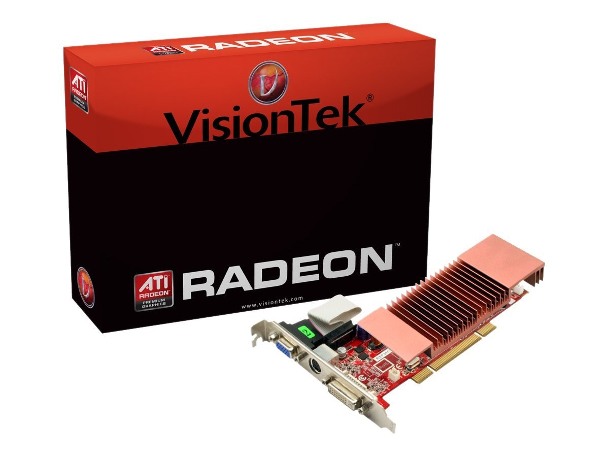 VisionTek Radeon HD 3450 PCI Graphics Card with Heatsink, 512MB, Retail, 900302, 11621697, Graphics/Video Accelerators
