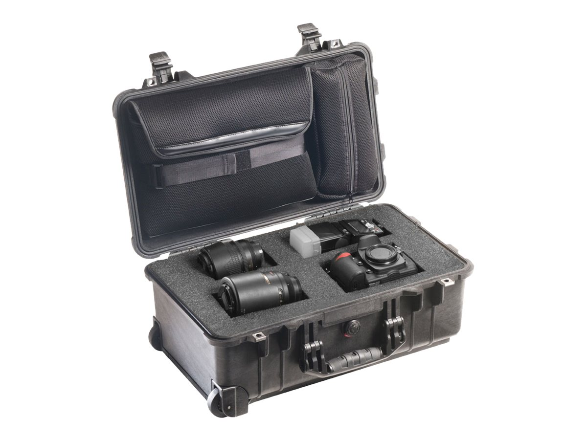 Pelican 1510LFC Laptop Overnight Case, Black, 1510-008-110, 15207848, Carrying Cases - Other
