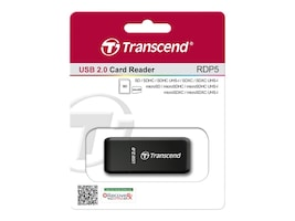 Transcend SDHC MMC4+MICROSDHC M2 Extrernal USB Card Reader, TS-RDP5K, 10953500, PC Card/Flash Memory Readers