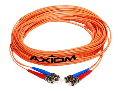 Axiom Fiber Patch Cable, LC-ST, 62.5 125, Multimode, Duplex, 1m