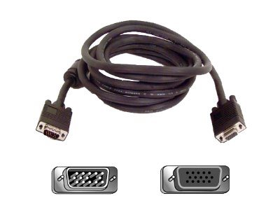 Belkin SVGA M F Monitor Extension Cable, Black, 15ft, F3H981-15, 152165, Cables