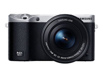 Samsung NX500 28MP Interchangable Lens Camera with 16-50mm Power Zoom Lens and Flash, Black, EV-NX500ZBMIUS