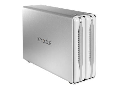 Icy Dock 2-Bay RAID 3.5 USB 3.0 Hard Drive Enclosure, MB662U3-2S-R1, 30733281, Hard Drive Enclosures - Multiple