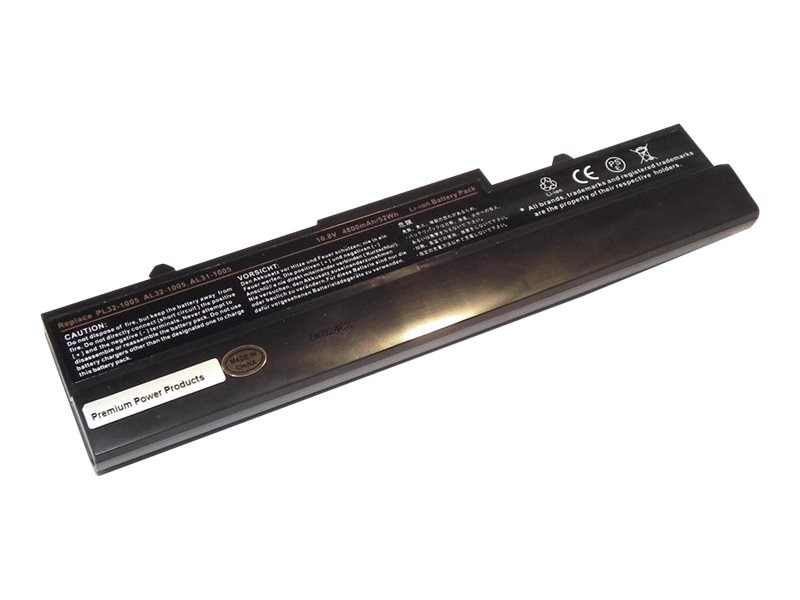Ereplacements Laptop battery for Asus Eee PC Netbooks 1005HA, 1005HAB, 1008HA, 1101HA. 70-OA1B2B4100, AL32-1005-ER, 12451685, Batteries - Notebook