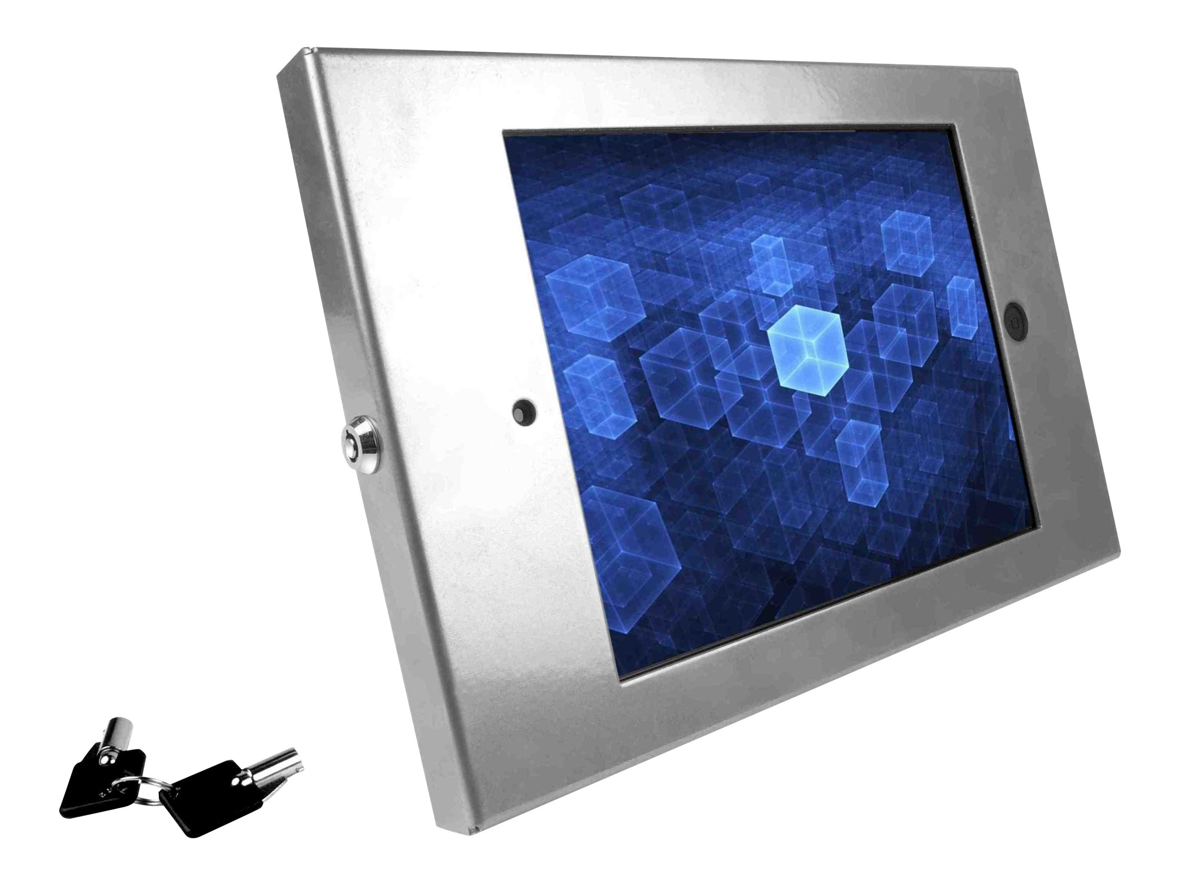 Compulocks iPad Enclosure Wall Mount, Full Metal, fits iPad 2 3 4 ,  Silver, 202ENS