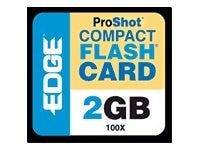 Edge 2GB ProShot 100X CompactFlash Card, PE204389, 6326255, Memory - Flash