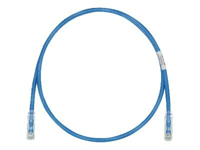 Panduit CAT6 UTP Copper Patch Cord, Blue, 1ft