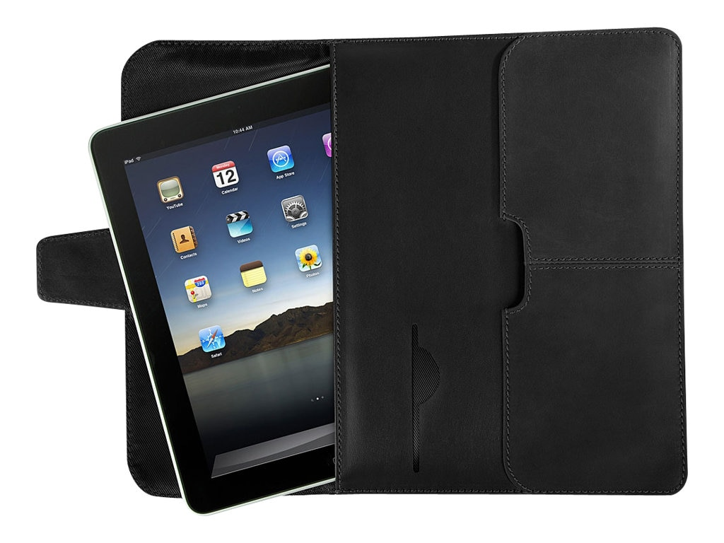 Targus Hughes Leather Portfolio Slipcase for iPad, Black, TES010US, 11732215, Carrying Cases - Tablets & eReaders