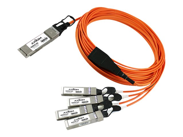 Axiom QSFP+ to 4x SFP+ Active Optical Cable, 10m, QSFP410AOC10-AX