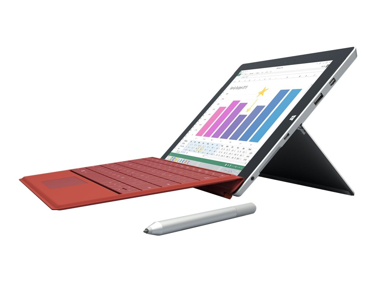 Microsoft Type Cover Demo for Surface 3, Bright Red, H3N-00004, 30863641, Keyboards & Keypads