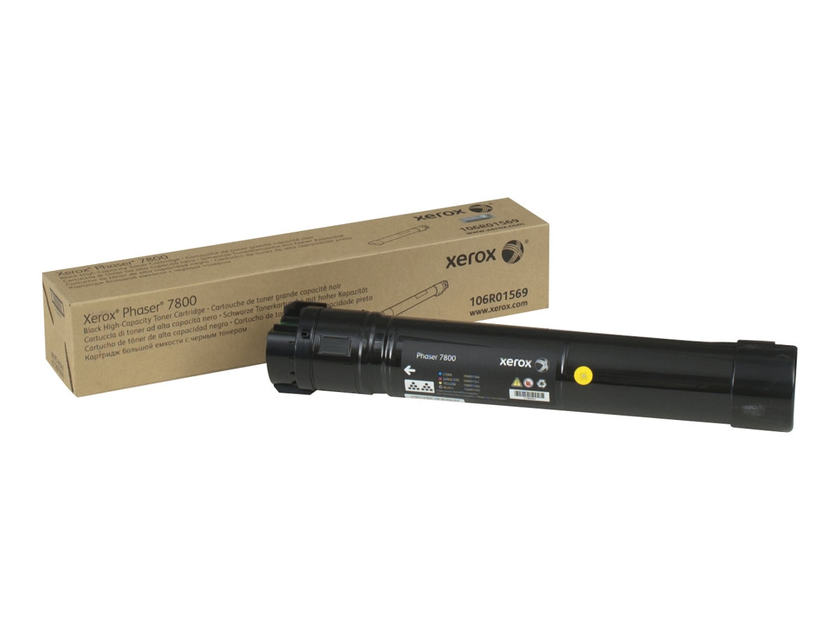 Xerox Black High Capacity Toner Cartridge for Phaser 7800 Series Printers, 106R01569