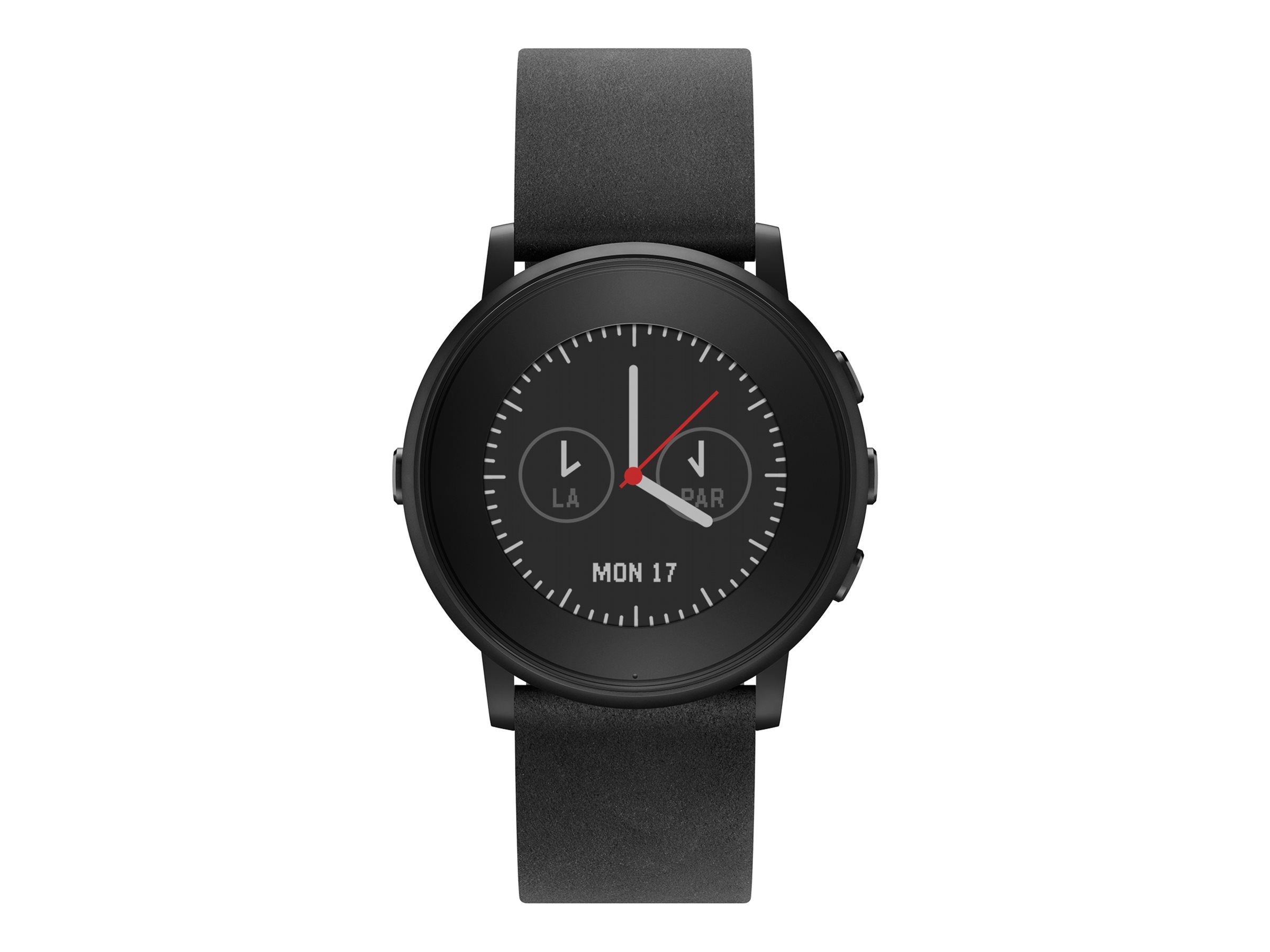 Pebble Round S4.1 Smartwatch, Black, 20mm, 601-00049