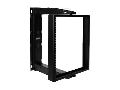 Hoffman Swing Cent Rack 20u 24in Blk