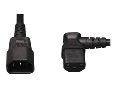 Tripp Lite AC Power Cord, C13-Right Angle to C14, 2ft
