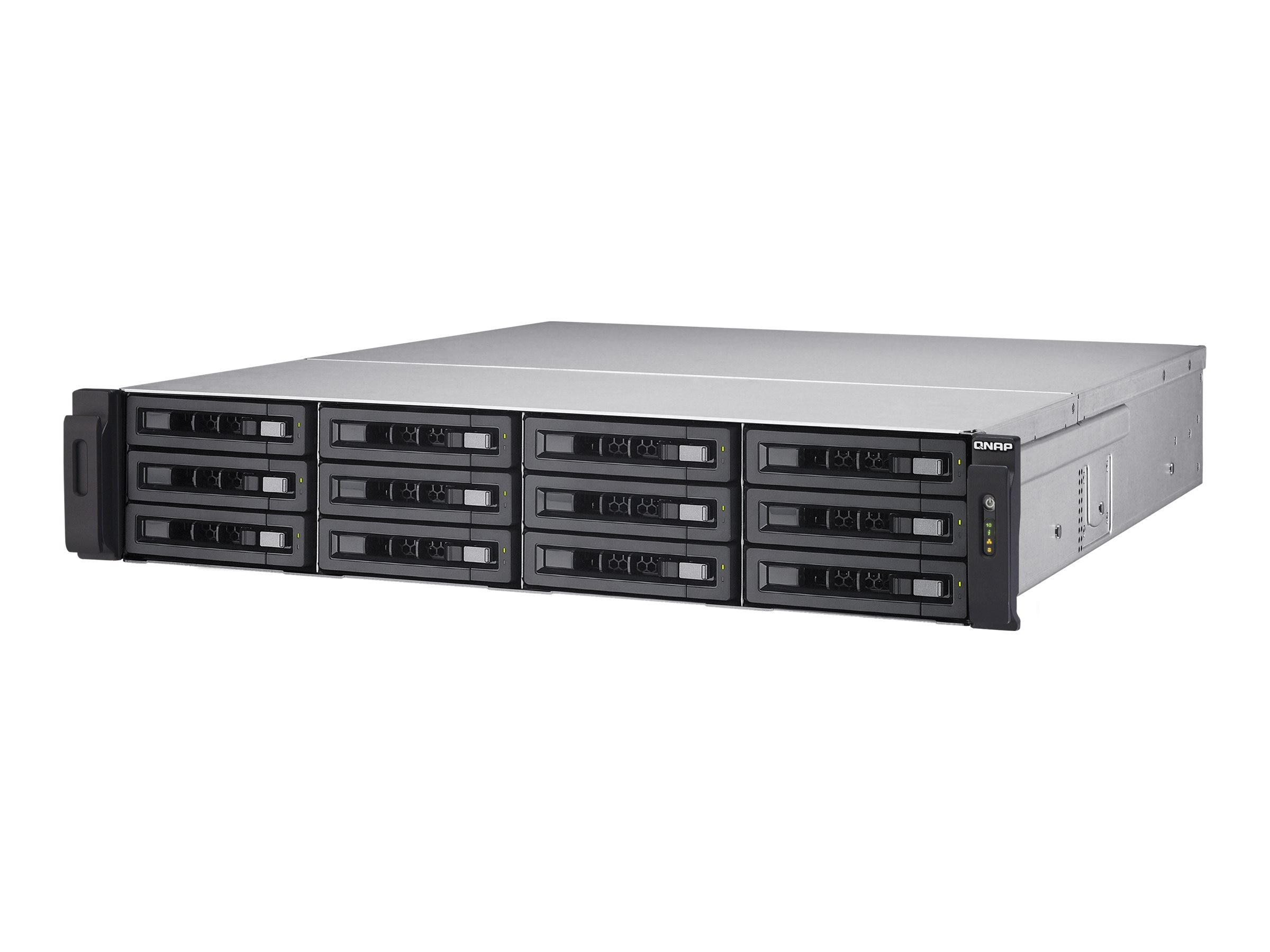 Qnap 12-Bay NAS & iSCSI  IPSAN 2U SAS 12Gb s SAS SATA 6Gb s 10G Storage w  Reduandant Power Supplies