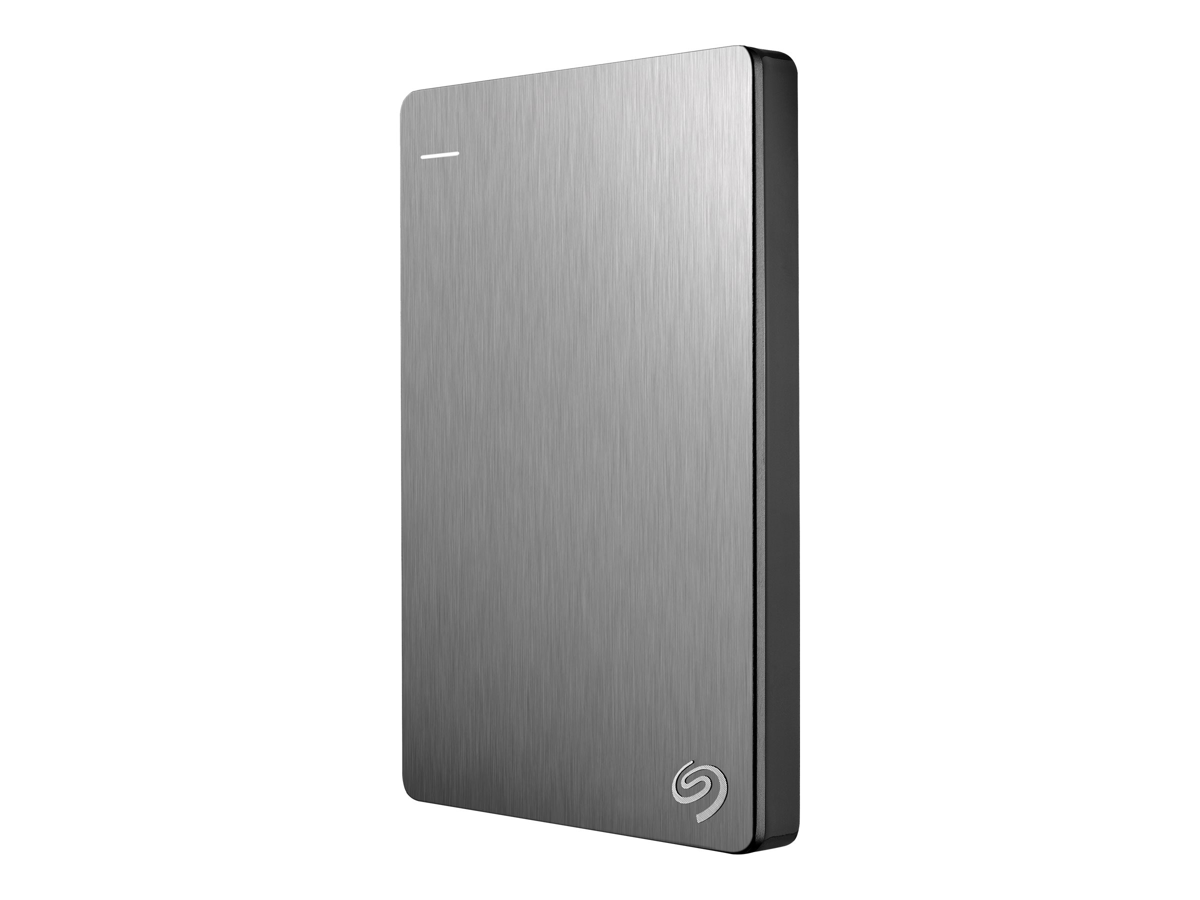 Seagate 1TB Backup Plus USB 3.0 Slim Portable Hard Drive - Silver, STDR1000101, 16573920, Hard Drives - External
