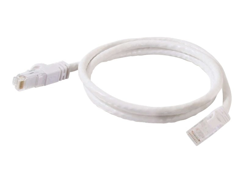 C2G Cat6 Snagless Unshielded (UTP) Network Patch Cable - White, 1ft
