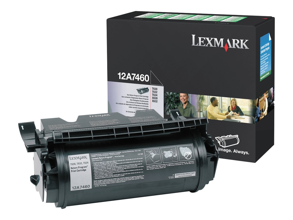 Lexmark Black Return Program Print Cartridge for T630 T632 T634 Series Printers, 12A7460, 431742, Toner and Imaging Components