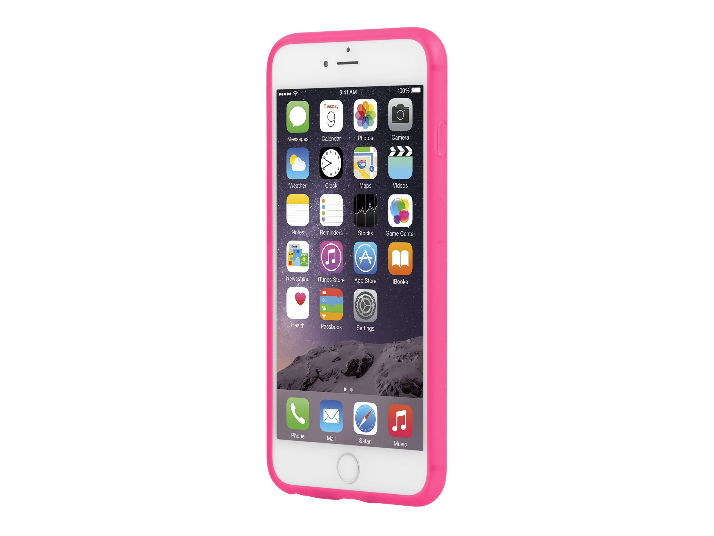 Incipio NGP Flexible Impact-Resistant Case for iPhone 6 6S Plus, Translucent Neon Pink