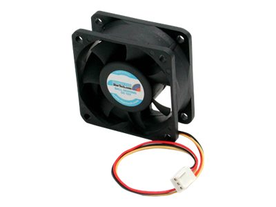 StarTech.com CPU Case Cooling Fan Motor, Hi-Flow, 6x2.5cm, with TX3 Connectors, FAN6X25TX3H